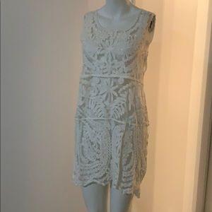 Coverup dress in crochet style